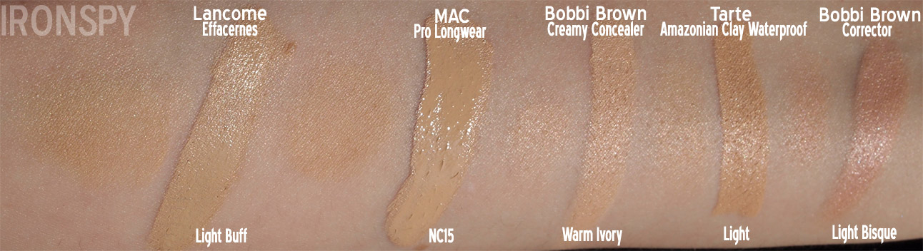 iron spy » Concealer Comparisons, Swatches